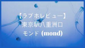 【ラブホレビュー】東京駅唯一のラブホ風レンタルルーム モンド(mond)に行ってみた